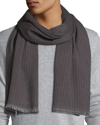 Sciarpa Ribbed Wool Scarf