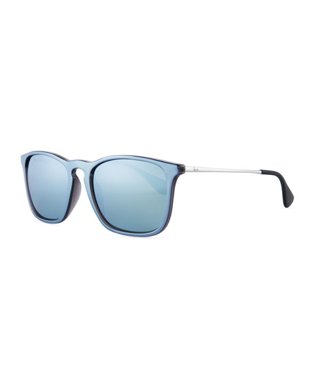 Chris Rectangular Mirrored Sunglasses