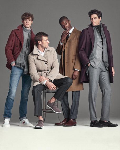 Wool Single-Breasted Top Coat