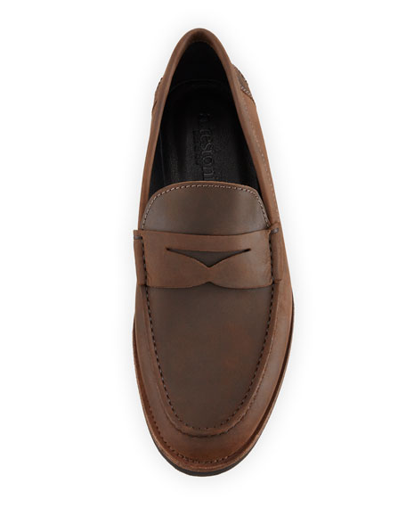 Waterproof Leather Penny Loafer