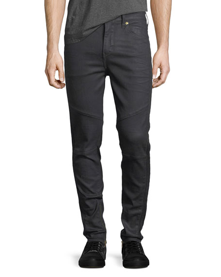 Racer Tapered Skinny Jeans, Crater