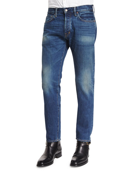 TOM FORD Regular-Fit Vintage Wash Selvedge Denim Jeans,