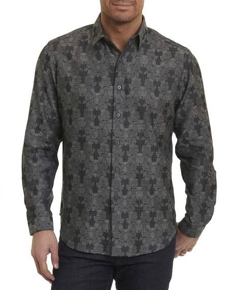 Robert Graham Watkins Floral Plaid Sport Shirt