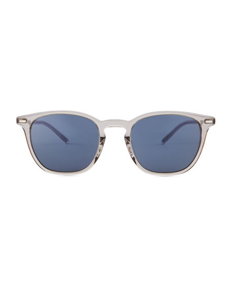 Heaton Square Acetate Sunglasses, Workman Gray