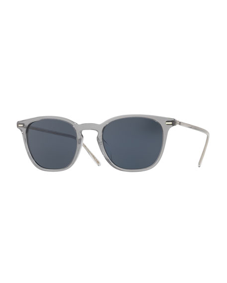 Oliver Peoples Heaton Square Acetate Sunglasses, Workman Gray