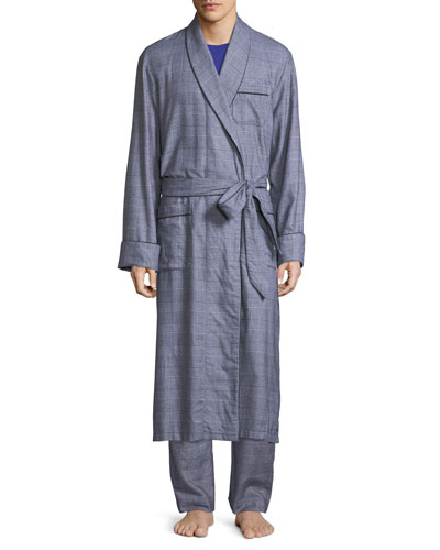 Ranga Long Brushed Cotton Robe