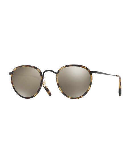 Oliver Peoples MP-2 Round Metal Sunglasses, MBK/Hickory