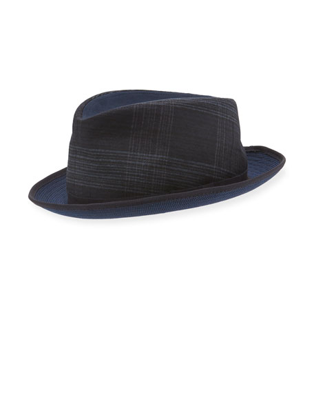 Etro Mixed-Media Fedora Hat