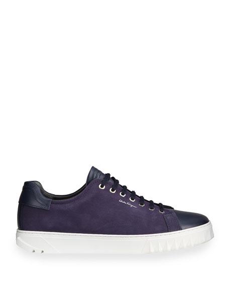 Men's Leather Low-Top Sneakers