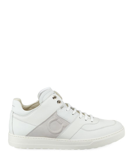 Men's Leather Mid-Top Sneakers