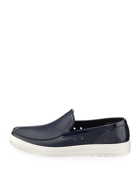 Men's Perforated Grommet Boat Shoe