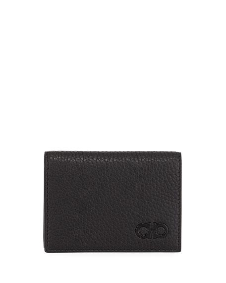 Men's Tonal-Gancini Leather Bi-Fold Wallet