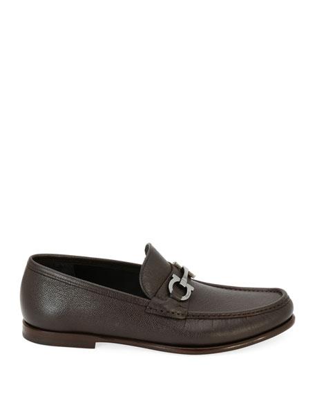 Men's Textured Leather Gancini Loafer