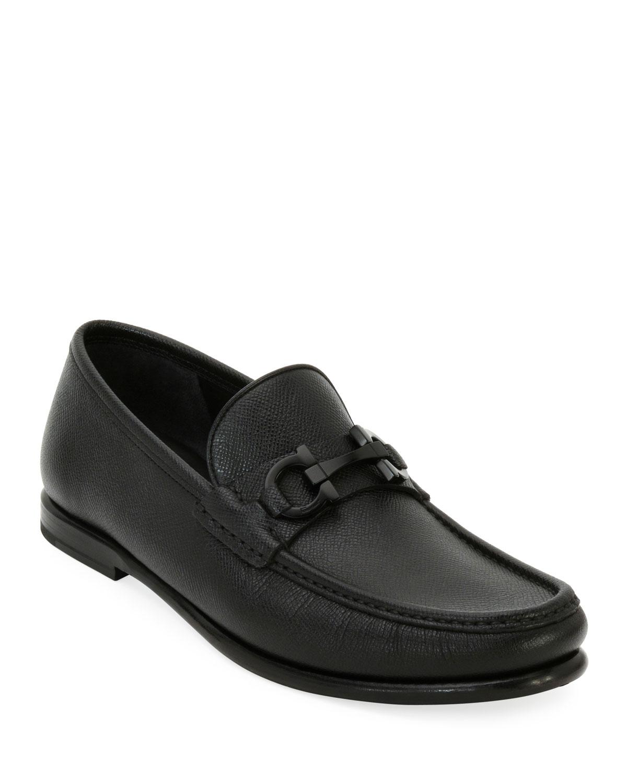 c22e3070c25 Salvatore Ferragamo Men s Textured Leather Gancini Moccasin Loafer ...