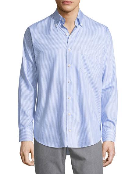 Peter Millar Crown Pinstripe Sport Shirt