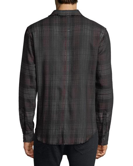 Coated Plaid Punk Shirt