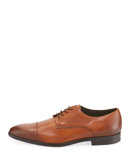 LUX CALF CAP TOE OXFORD WITH