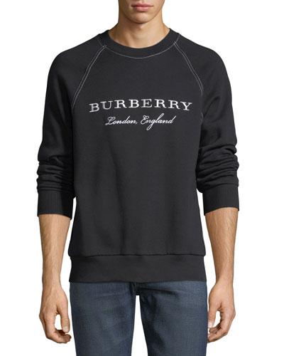 Taydon Embroidered Sweatshirt, Black