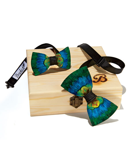 Brackish Bowties Father & Son Cali Feather Bow Tie