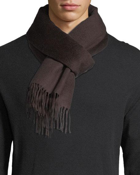 Ermenegildo Zegna Double-Face Silk Fringe Scarf