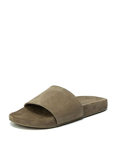Monaco Suede Slide Sandals