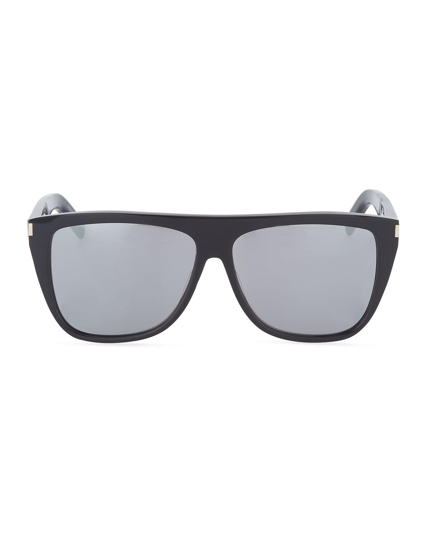 8d7626ed7cd4 Saint Laurent SL 1 Mirrored Acetate Sunglasses   Neiman Marcus