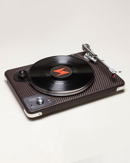 Ermenegildo Zegna Pelle Tessuta Belt-Driven Turntable