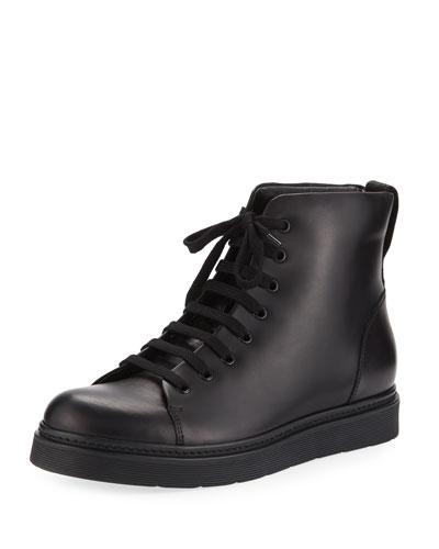 Malon Men's Leather High-Top Sneaker