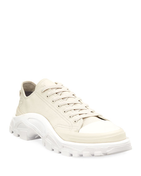 Mens Detroit Runner Canvas & Nylon Sneakers Raf Simons