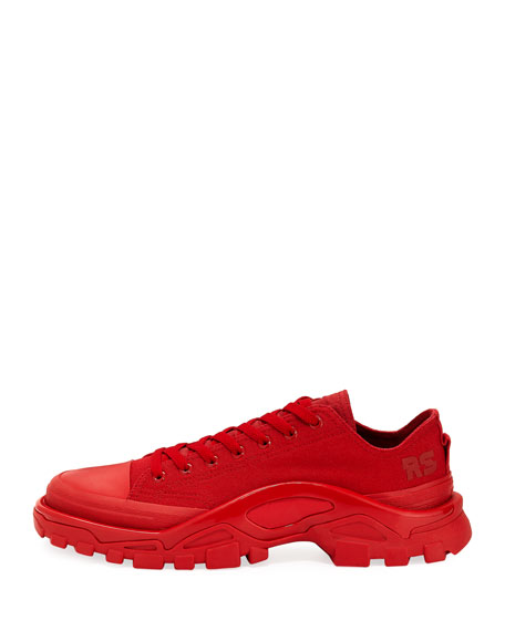 Men's Detroit Runner Canvas Sneakers, Red