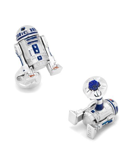 Cufflinks Inc. 3D Star Wars R2-D2 Cuff Links