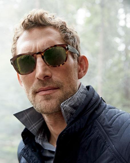 Bryan Round Acetate Sunglasses