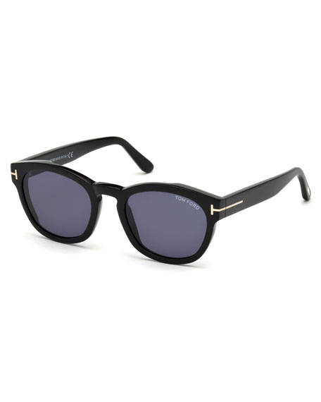 Image 1 of 1: Bryan Rounded Plastic Sunglasses
