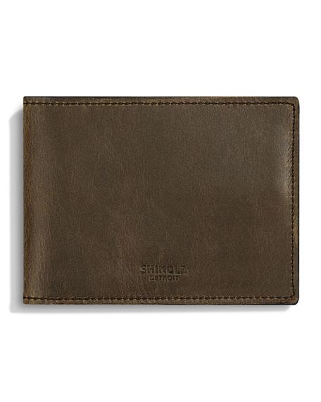 Men's Slim Leather Bi-Fold Wallet