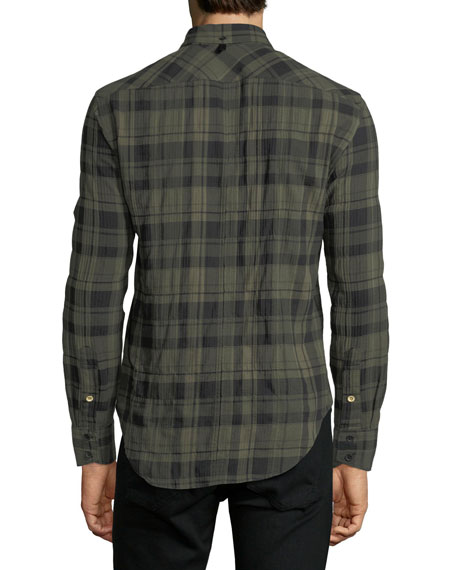Men's Fit 3 Base Herringbone Wool-Blend Shirt
