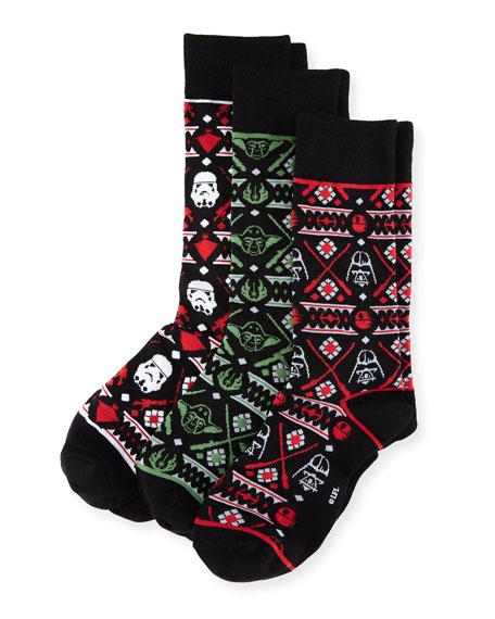 Star Wars Tacky Holiday Sweater 3-Pack Socks