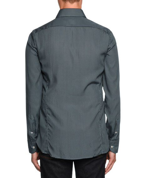 Image 2 of 2: Houndstooth-Print Sport Shirt