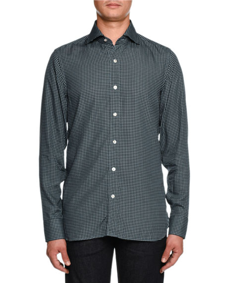Image 1 of 2: Houndstooth-Print Sport Shirt