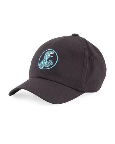 Dinosaur-Embroidery Baseball Hat