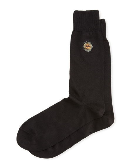 Paul Smith Black Embroidered Sun Sock