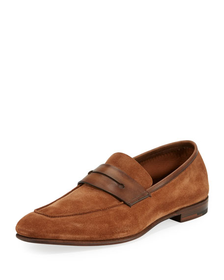 La Sola Suede Penny Loafer, Brown