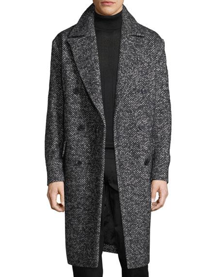 Oversize Wool-Blend Boucle Coat