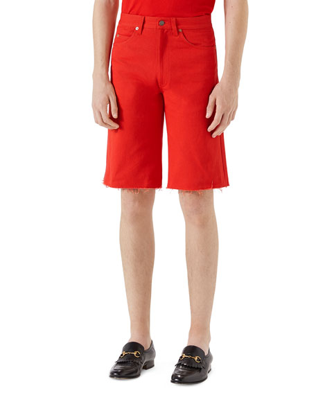 Gucci Bleach-Washed Cotton Shorts