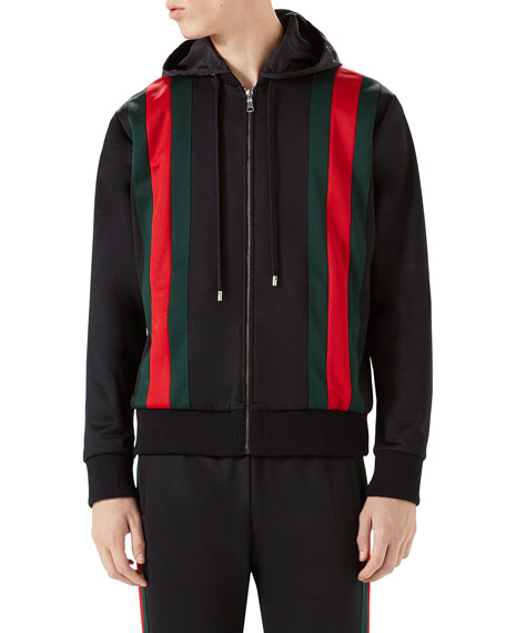Gucci Web-Striped Track Jacket