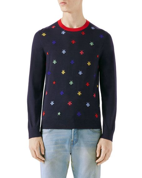 Gucci Bee Intarsia Sweater