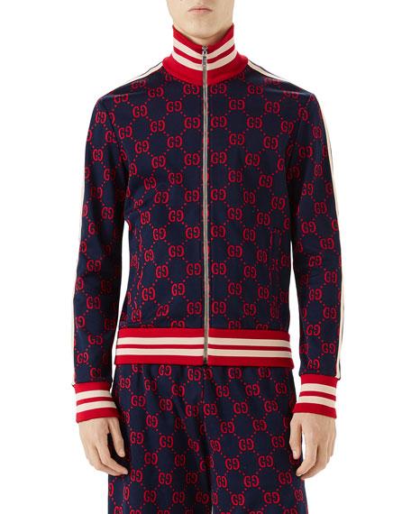Gucci GG-Jacquard Zip-Front Jacket
