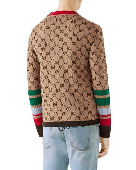 5bf5a2a5e Gucci GG Jacquard Wool Sweater | Neiman Marcus