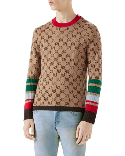 GG Jacquard Wool Sweater