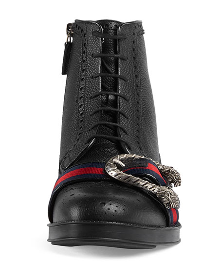 Beyond Tag Buckle Lace-Up Boot