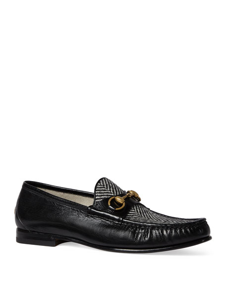 xPjwSbIvuW Roos Herringbone Leather Loafers